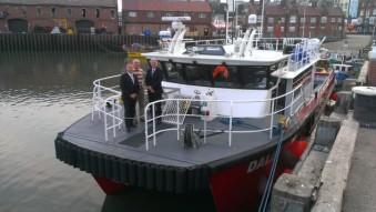 Bastiman, Cockerill and McNiven aboard a Dalby Offshore vessel